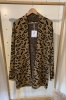Animal Print Cardigan in Brown