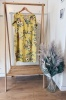 Darcy Floral Linen Summer Dress in Yellow