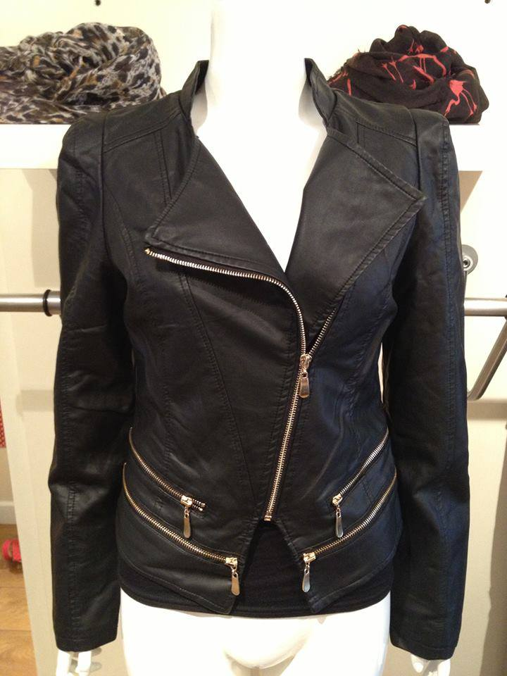 double zip biker jacket