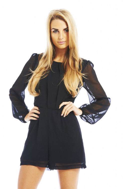 chiffon-sleeve-playsuit