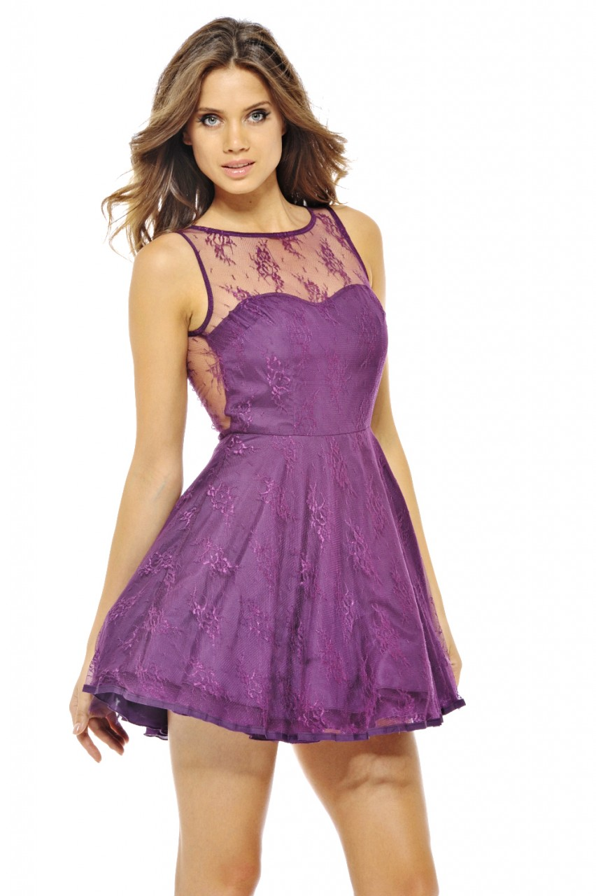 Purple Skater Dress