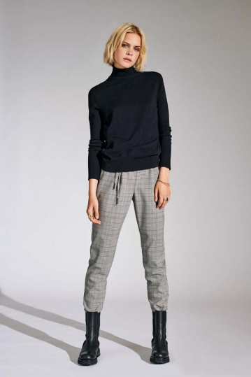 Only Pop Trash Grey Check Trouser