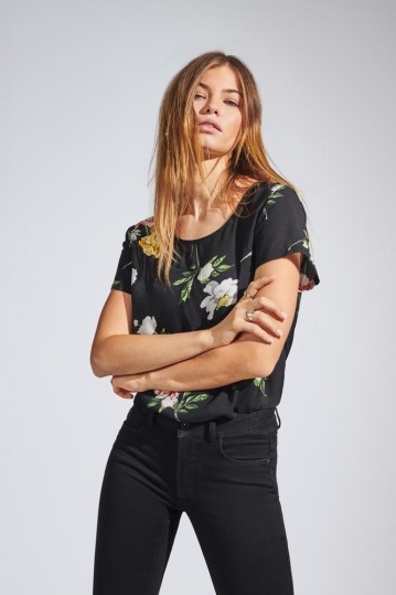Only Vintage Black Floral Top
