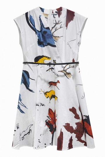 Bella Printed Aline Dress