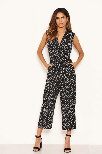Dolcie Ditsy Wrap Jumpsuit