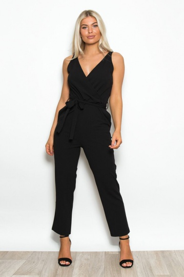 Bella Wrap Over Jumpsuit
