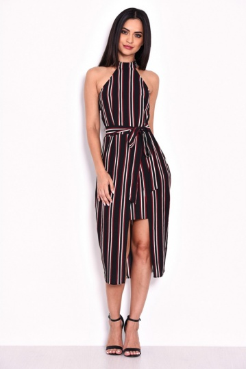 Striped Halterneck Dress