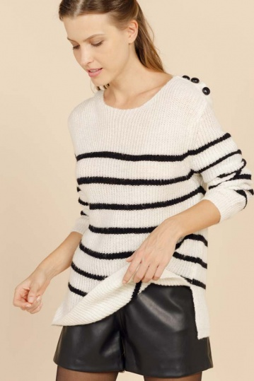 Artlove  Sailor Nautical Button Jumper