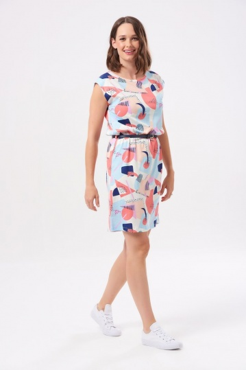 Sugarhill Boutique Hetty Abstract Geo Jersey Dress