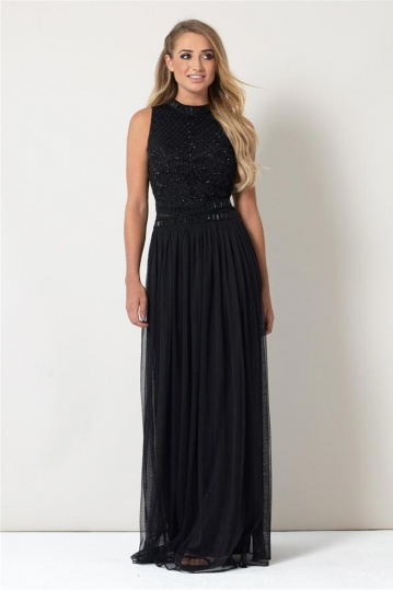 Debbie Embroidered Full Length Occasion Dress