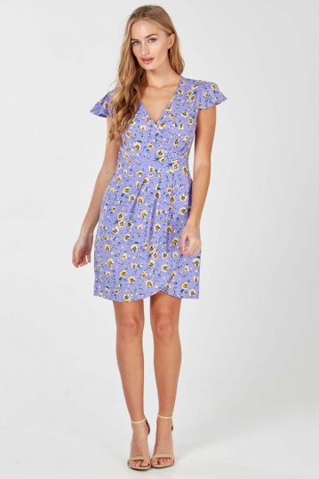 Elsa Vintage Print Pocket Dress