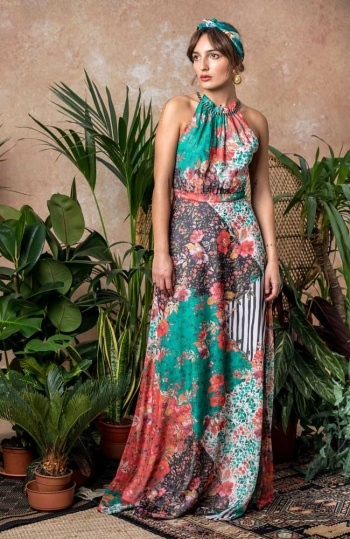 Hope and Ivy Braided Strap Maxi Dress