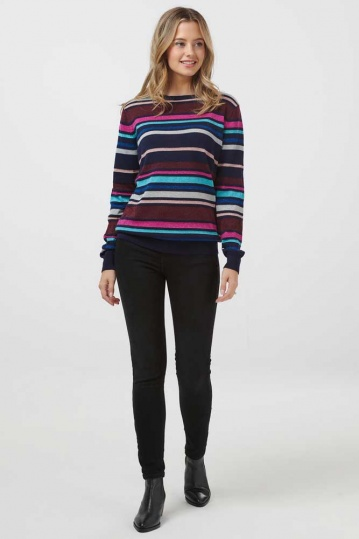 Sugarhill Brighton Rita Roller Disco Stripe Jumper