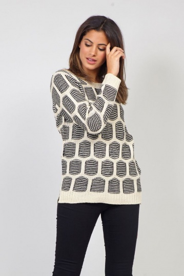 Kate Square Print Jumper