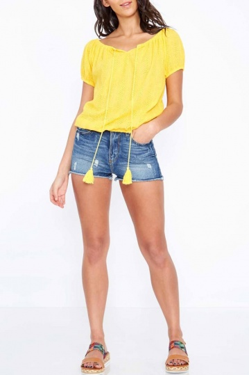 Gypsy Tassle Top in Yellow