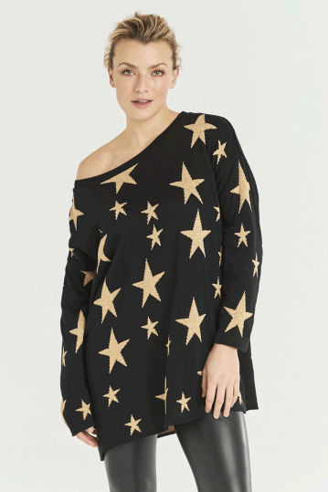 A Postcard From Brighton Glam Starry Knit Jumper