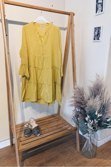 Patsy Boho Dress in Yellow
