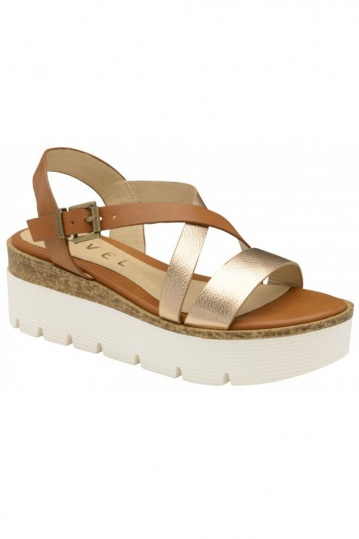 Ravel Gold Layton Flatform Sandals