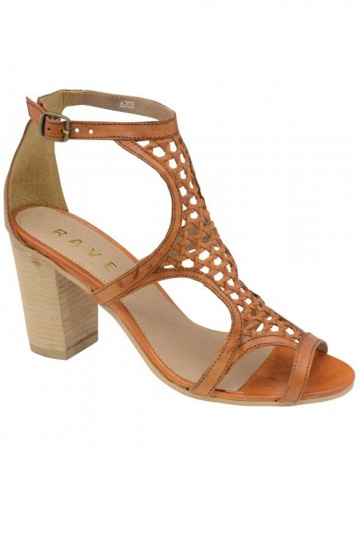 Ravel Tan Halton Leather Heeled Sandals