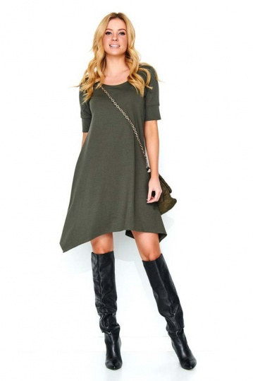 Emilia Jagged Swing Dress