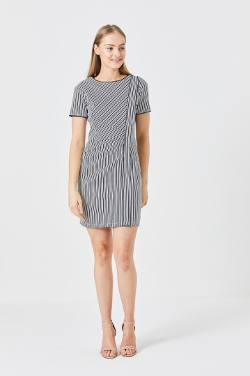 Poppy Nautical Stripe Dress