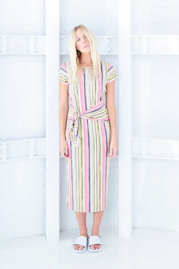 A Postcard From Brighton Charlotte Striped Tie Dress