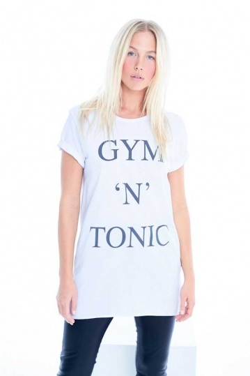 A Postcard From Brighton Gym and Tonic Tshirt