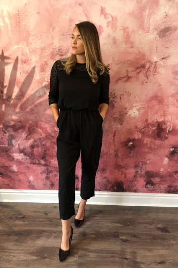 ArtLove Lace Sleeve Jumpsuit