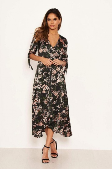 Tessa Floral Wrap Dress