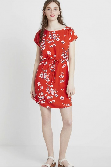 B.Young ByHailey Floral Dress in Red