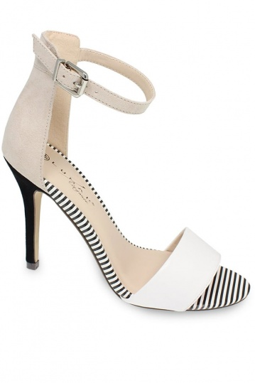 Checo Pin Striped Heel Sandal
