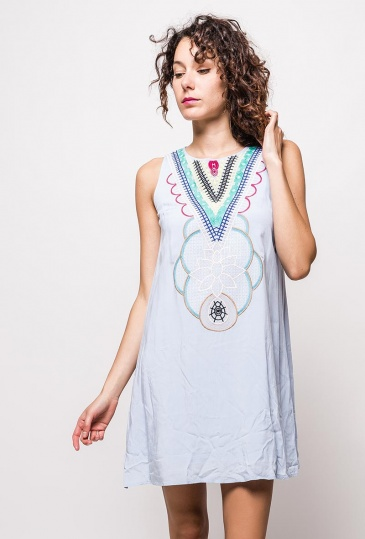 Alice Embroidery Shift Dress