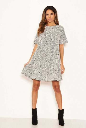 Kylie Frill Hem Tunic Dress