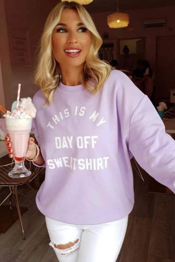 MyNelly Day Off Sweatshirt in Lilac