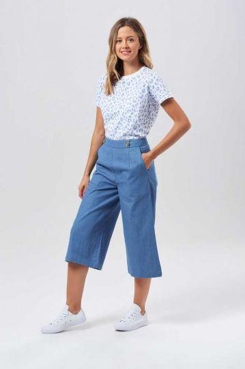 Sugarhill Brighton Harlow Denim Culottes