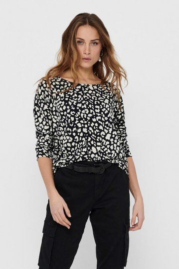 Only Elcos Black Print Top