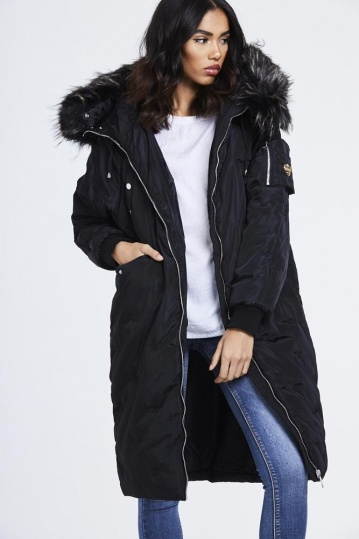 Faux Fur Long Padded Jacket
