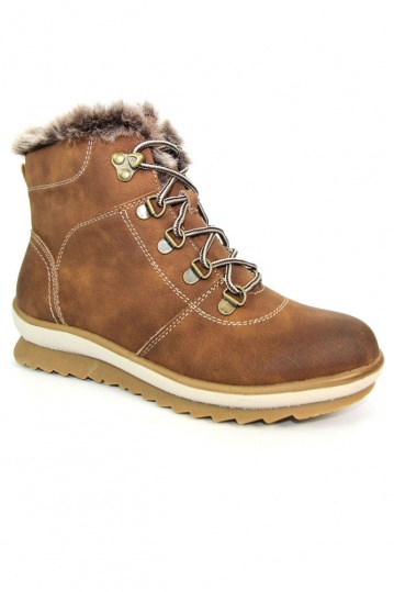 Ranch Lace Up Boot in Tan
