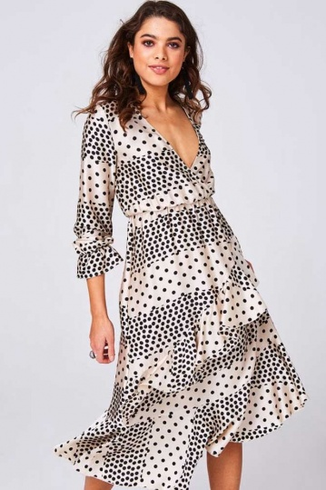 Harmony Polka Dot Midi Dress