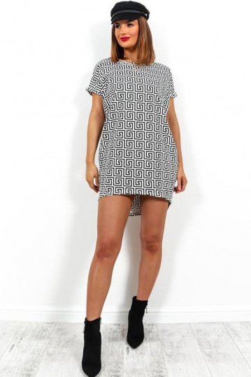Greek Key Tshirt Dress
