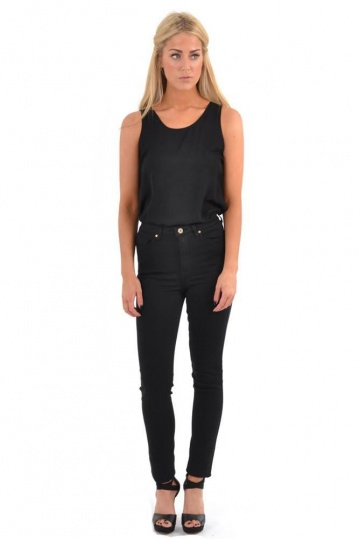 Toxik High Waisted Skinny Soft Black Jeans