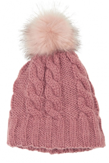 Ichi A Light Ho Pom Pom Hat Light Mahogany