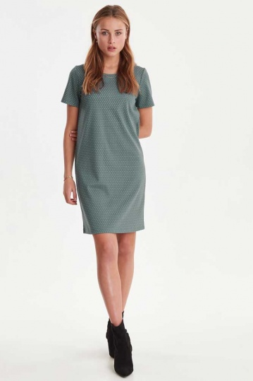 ICHI Kate Spot Shift Dress