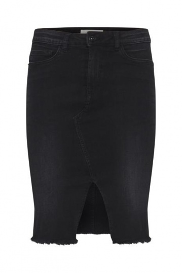 Ichi Romelo Denim Black Skirt