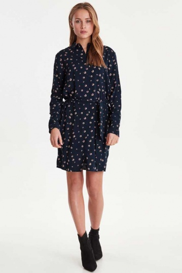 Ichi Vera Dove Print Shirt Dress