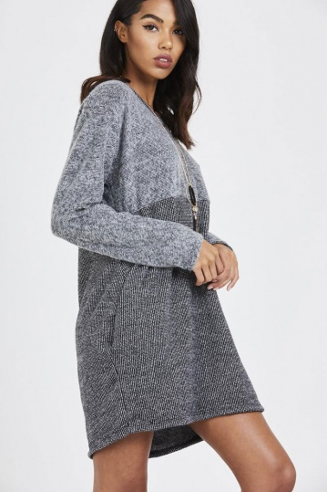 Knitted Necklace Jumper Dress