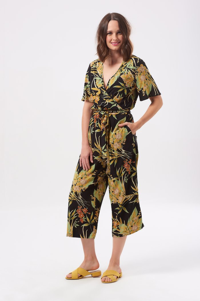 Sugarhill Boutique Neme Vintage Hawaiian Print Jumpsuit