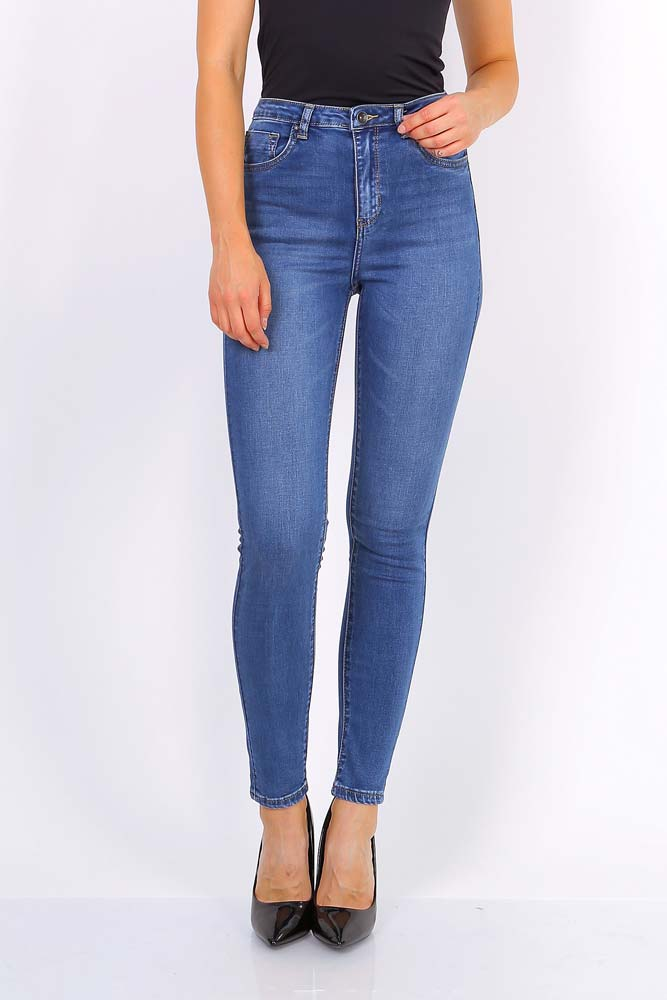 Toxik Sara High Waisted Skinny Soft Blue Denim Jeans
