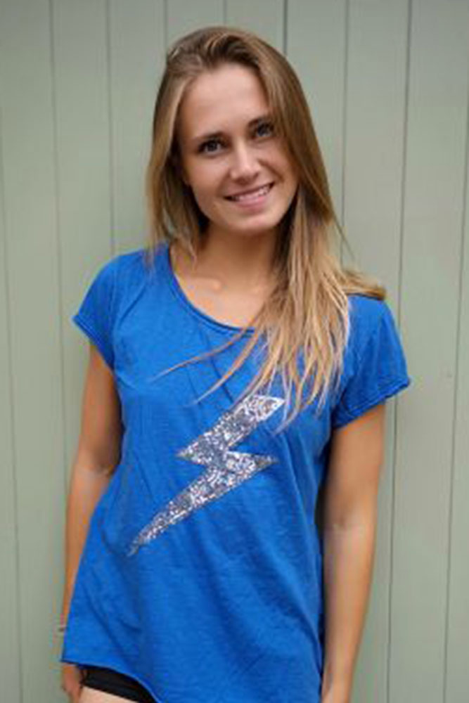 Sequin Lightening Bolt Tshirt