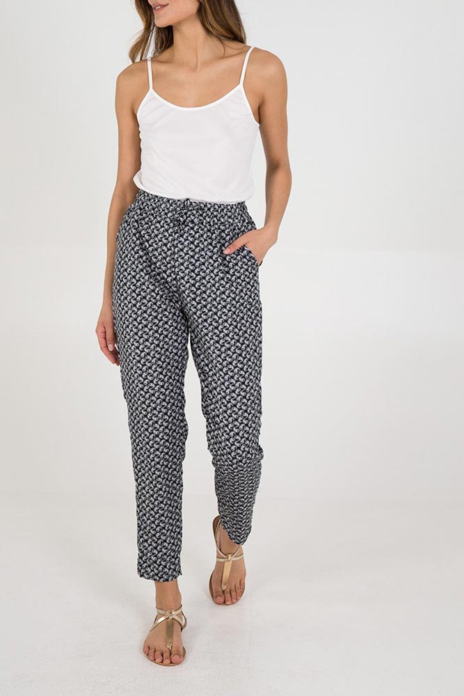 Anya Lightweight Print Trousers